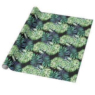Tropische Insel-Pflanzen Monstera Deliciosa Geschenkpapier