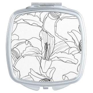 Tropische Kontur-kompakter Spiegel Schminkspiegel