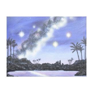 Tropische Milchstraße-Raum-Malerei Leinwanddruck