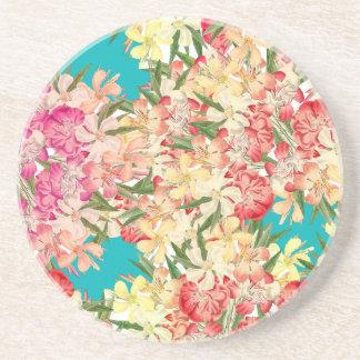 Tropische Oleander-Blumen-BlumenUntersetzer Untersetzer