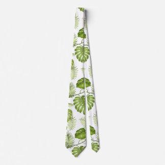 Tropische Palmblätter Bedruckte Krawatten