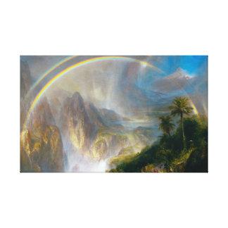 Tropische Regenbogen-Malerei Gespannte Galeriedrucke