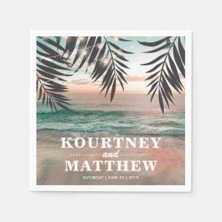 Tropische Schnur der Strand-Hochzeits-| der Papierservietten
