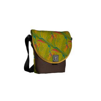 Tropische Spritzen-Tasche Kuriertaschen
