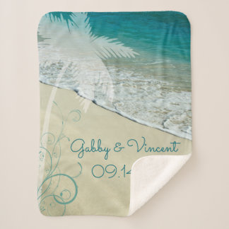 Tropische Strand-Hochzeit Sherpadecke