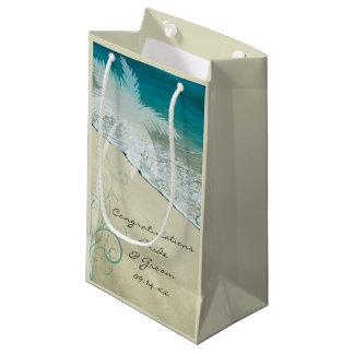 Tropische Strand-Hochzeits-Glückwünsche Kleine Geschenktüte