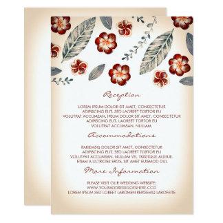 Tropische Strand-Hochzeits-Informations-Gast-Karte Karte