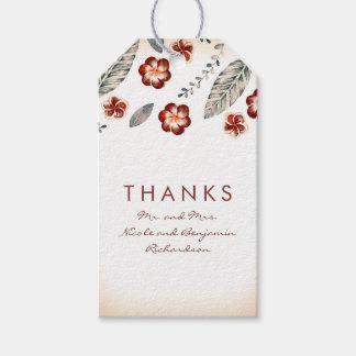 Tropische Wedding Strand-Blumen Geschenkanhänger
