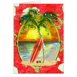 Tropische Weihnachtspalme Grußkarte