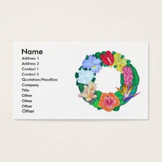 Tropischer Aloha Kranz Visitenkarten