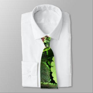 Tropischer BlätterWatercolor Bedruckte Krawatte