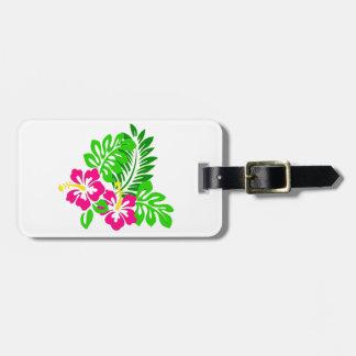 Tropischer Hibiskus personalisierter Gepäck-Umbau Gepäckanhänger