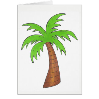 Tropischer Insel-Grün-Palme Palmtree Druck Karte