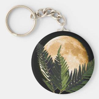Tropischer Mondschein Standard Runder Schlüsselanhänger
