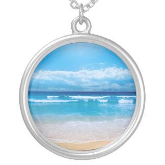 Tropischer Ozean Halskette Mit Rundem Anhänger