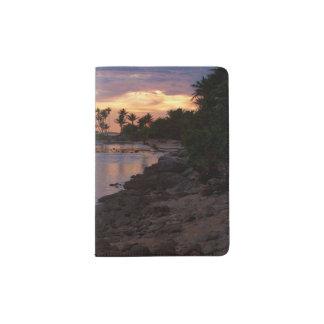 Tropischer Ozean-Sonnenuntergang-Pass-Halter Passhülle