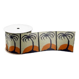 Tropischer Palme-orange Satinband