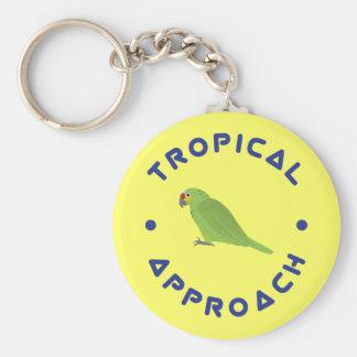 Tropischer Papagei Keychain Schlüsselanhänger