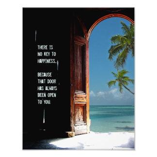 Tropischer Schlüssel zum Glück-Tür-Druck Kunst Fotos