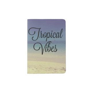Tropischer Schwingungens-Strand-Pass-Halter Passhülle