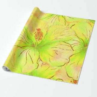 Tropischer Sommer-Glitter Einpackpapier