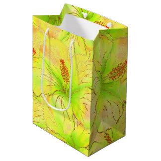 Tropischer Sommer-Glitter Mittlere Geschenktüte