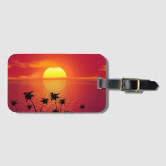 Tropischer Sonnenuntergang Kofferanhängern