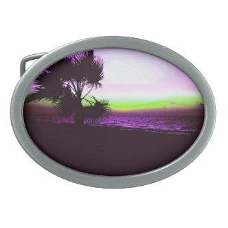 Tropischer Sonnenuntergang Ovale Gürtelschnallen