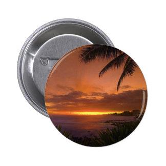 tropischer Sonnenuntergangknopf Runder Button 5,7 Cm