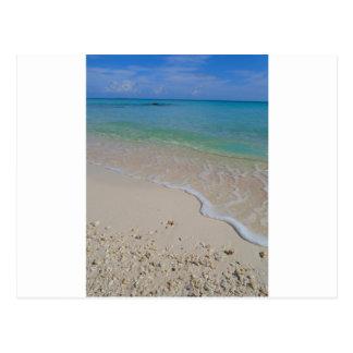 Tropischer Strand-blaues Wasser Tahiti Postkarte