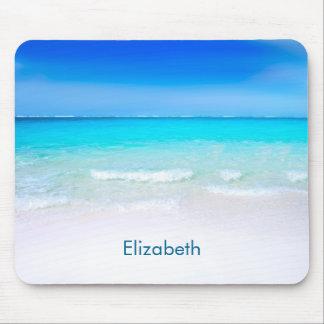 Tropischer Strand mit einer Türkis-Seegewohnheit Mauspad