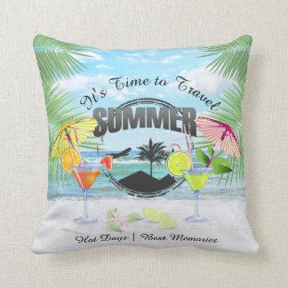 Tropischer Strand, Sommer-Ferien | personalisiert Kissen