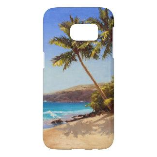 Tropischer Strand-und Palme-Insel-Flucht-Fall
