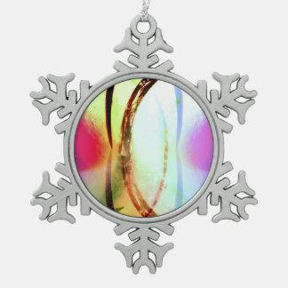 Tropischer Tourmaline Schneeflocken Zinn-Ornament