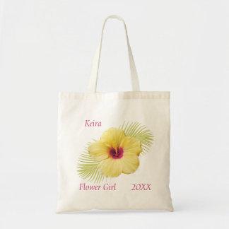 Tropisches Blumen-Mädchen-personalisierte Tasche