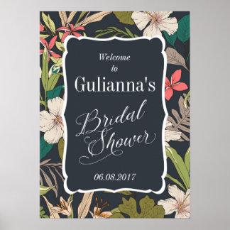 Tropisches Brautparty-willkommenes Zeichen Poster