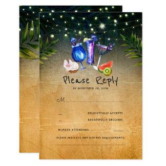 Tropisches Cocktail-Strand-Hochzeit UAWG Karte