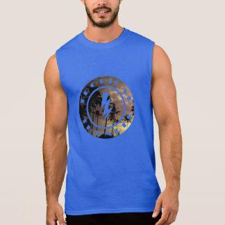 Tropisches Donnersonnedämmerungs-Strandbild Ärmelloses Shirt