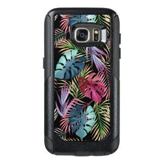 Tropisches Dschungel-Laub-botanisches Muster OtterBox Samsung Galaxy S7 Hülle