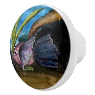 Tropisches Fisch-Aquarell Keramikknauf