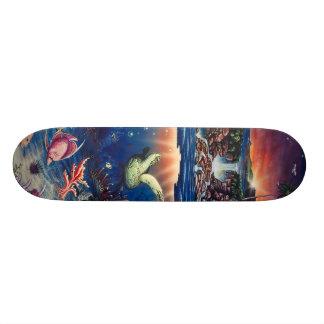 Tropisches Meeresschildkröte-Skateboard Skateboard Brett