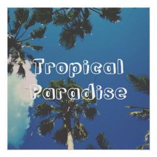 Tropisches Paradies Perfektes Poster