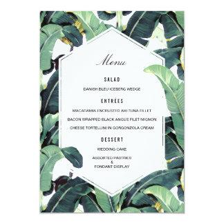 Tropisches Plantagen-Hochzeit in Urlaubsorts-Menü 12,7 X 17,8 Cm Einladungskarte