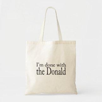 Trumpf, Einweihung: Getan mit dem Donald Tragetasche