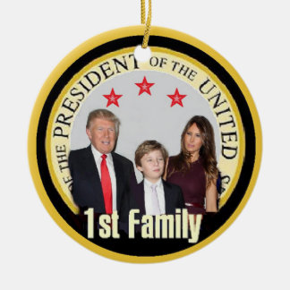 TRUMPF erste Familie Keramik Ornament