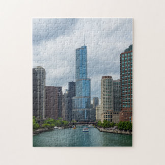 Trumpf-Turm Chicago River Puzzle