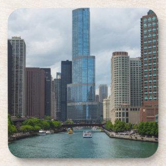Trumpf-Turm Chicago River Untersetzer