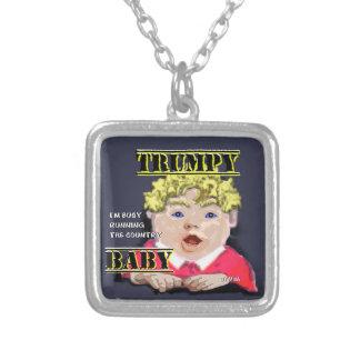 Trumpy Baby-Silber überzogenes Halsketten-Quadrat Versilberte Kette
