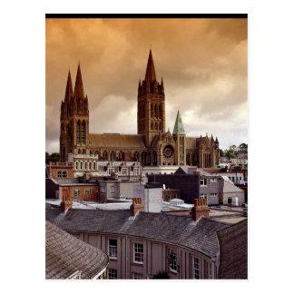 Truro Kathedrale, Cornwall, England Postkarte