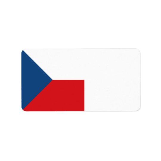 Tschechische Republik-Flagge Adressaufkleber
